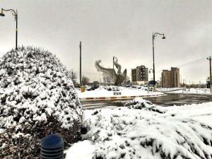 زیبایی های سرعین بعد از بارش برف+عکس