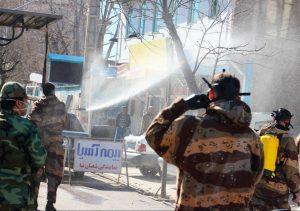عملیات ضدعفونی معابر شهر سرعین با مشارکت نیروهای مسلح انجام شد