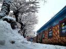 آغاز بارش برف در شهر توریستی سرعین+فیلم