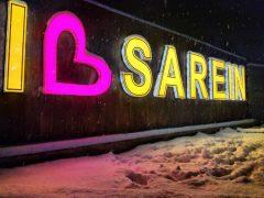 بارش نخستین برف زمستانی در شهر چشمه های بهشتی