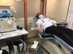 اهدای پلاسما و خون توسط پرسنل اورژانس ۱۱۵سرعین +عکس