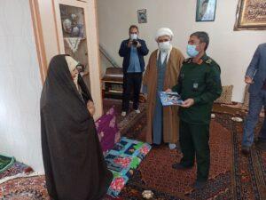 تجلیل فرمانده سپاه استان اردبیل از خانواده شهدا و مدافعان سلامت سرعین+عکس