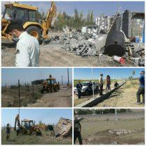 قلع و قمع ساخت و سازهای غیر مجاز در اراضی کشاورزی سرعین