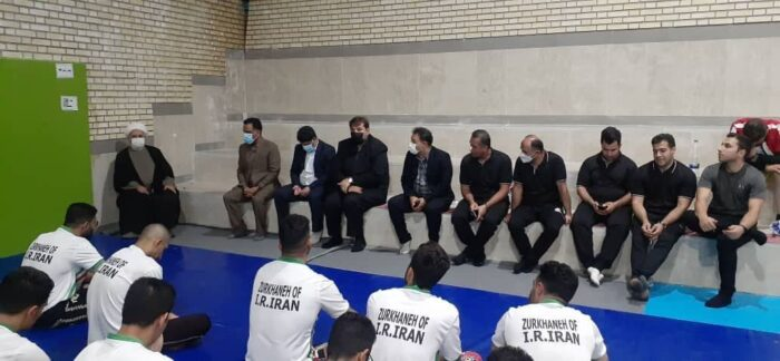 دیدار امام جمعه سرعین با ورزشکاران زورخانه ای